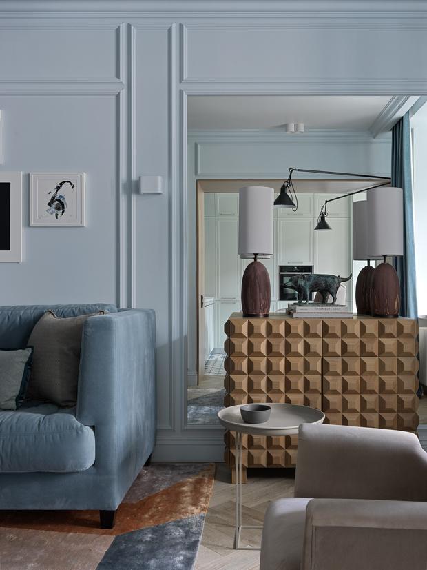 Фото №6 - Современный дизайн квартиры 100 м² в московской сталинке
