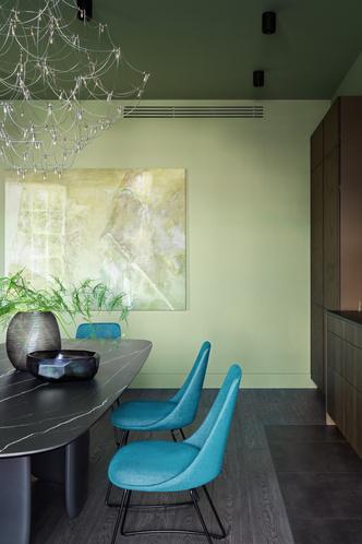 Фото №3 - Зеленый цвет в интерьере: советы по декору