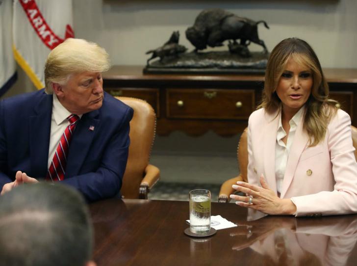 Фото №1 - Чем Мелания Трамп удивила журналистов на встрече с главой Польши