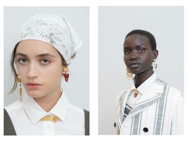 Фото №1 - Барышни-крестьянки: самые яркие бьюти-образы на показе Dior Cruise 2021