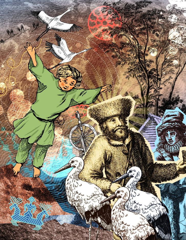 Фото №2 - Мифы народов мира: О чем кличут журавли, легенда вепсов