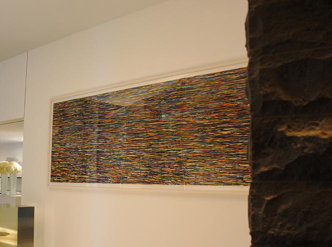 Сол Левитт, «Horizontal brushstrokes (more or less)», 1996