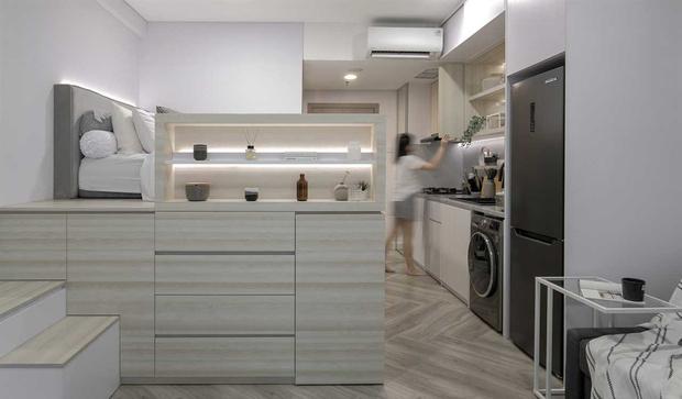 Фото №1 - Монохромная квартира 27 м² в Джакарте