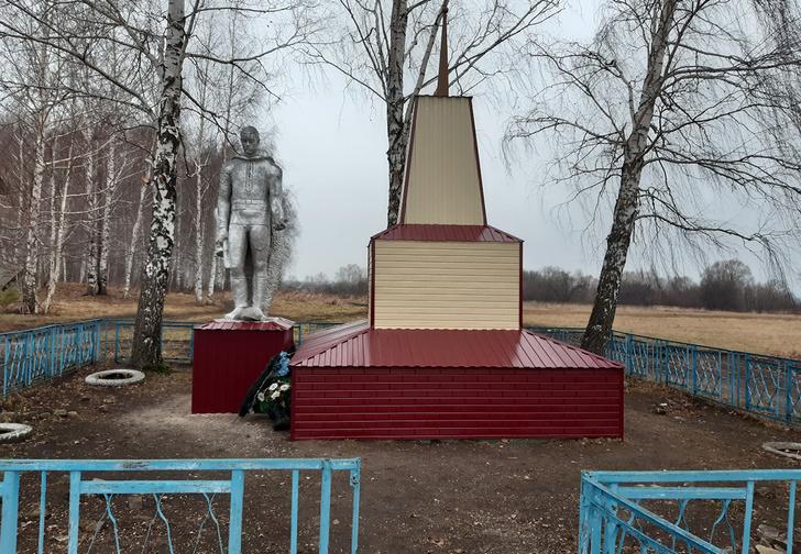 Фото №1 - В Мордовии памятник погибшим в Великой Отечественной войне отреставрировали сайдингом, но после негодования жителей обещали все переделать (фото)