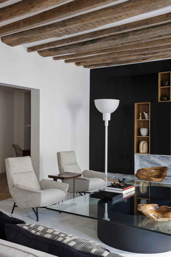 Фото №7 - Нетипичная парижская квартира в черно-белой гамме