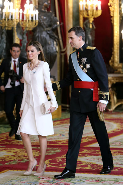 Принцесса Летиция и принц Фелипе