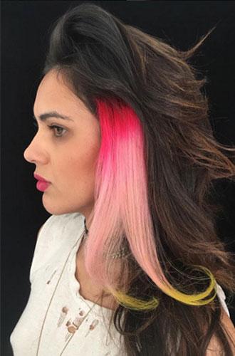 Фото №14 - Бьюти-тренд: разноцветные волосы