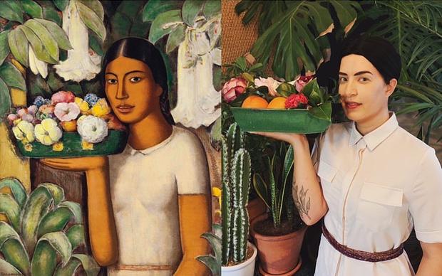 Женщина с цветами», Альфредо Рамос Мартинес