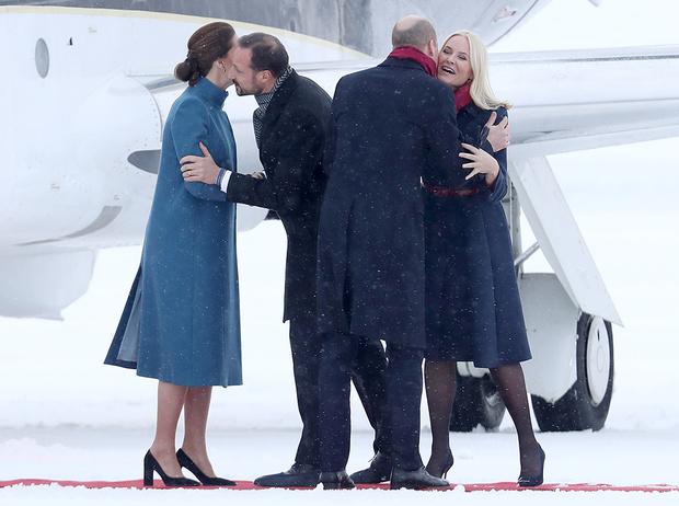 Фото №3 - Кейт Миддлтон и принц Уильям в Норвегии: день первый