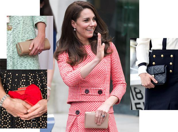Фото №1 - Королевский дресс-код: любимые сумки герцогини Кембриджской