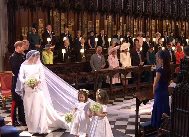 Фото №10 - Подружки и пажи королевских кровей на свадьбах: от принца Джорджа до юной Лилибет
