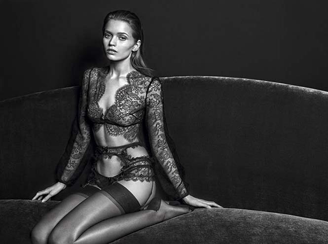 Фото №3 - Чувственна и сексуальна: Эбби Ли Кершоу в осенней кампании Agent Provocateur