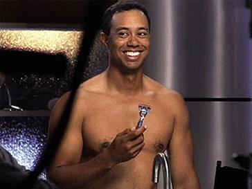 Тайгер Вудс (Tiger Woods), гольф, Gillette, скандал