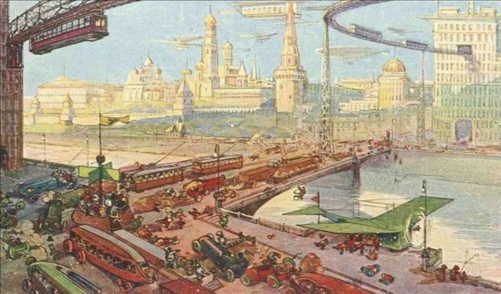 Фото №3 - Как представляли Москву будущего в 1914 году