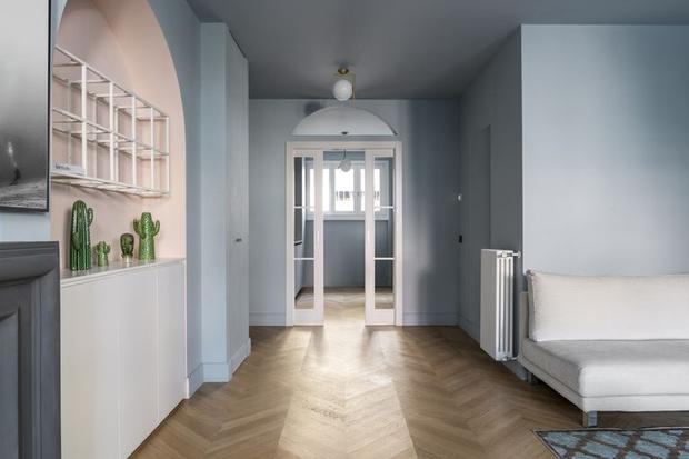 Фото №2 - Маленькая квартира с камином в центре Милана
