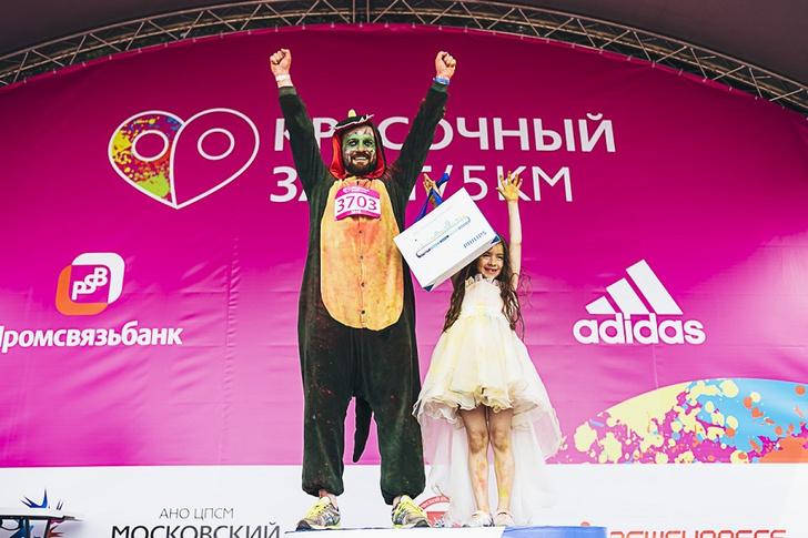 Фото №2 - В Москве состоялся самый красочный забег года