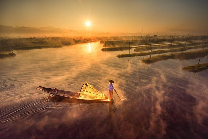 Фото №1 - Утро на озере