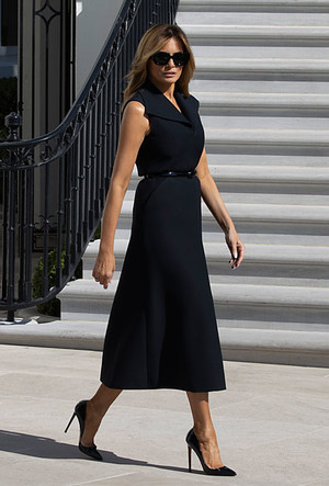 Фото №28 - Большая разница: как менялся стиль Мелании Трамп во время президентских кампаний мужа