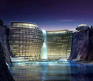 Фото №1 - В Китае строят подводный отель