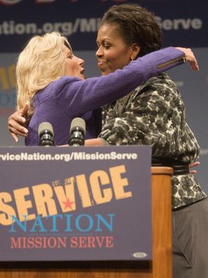Фото №14 - Когда Мишель встретила Джилл: трогательная дружба двух Первых леди США