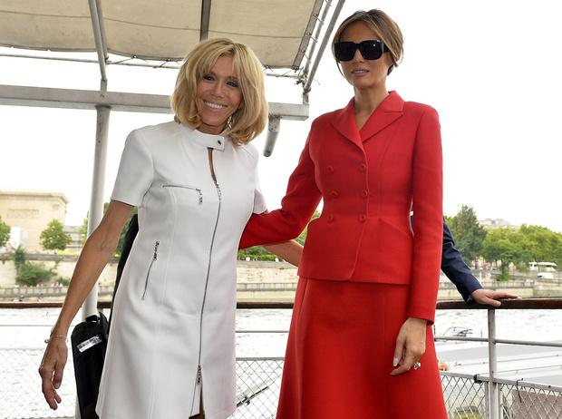 Фото №8 - Первые подруги: Мелания Трамп и Бриджит Макрон в Париже