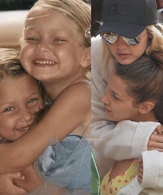 Фото №9 - 40 доказательств любви: редкие фото, которыми поздравили Беллу Хадид ее мама и сестра