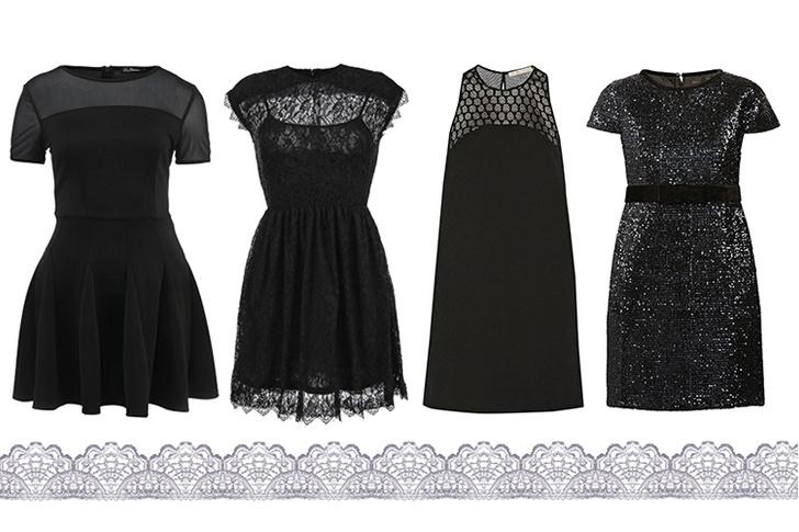 Платье, Kira Plastinina, lamoda.ru, 2 799 руб.; платье, Lost Ink., lamoda.ru, 3 290 руб.; платье, Maje; платье, Maje
