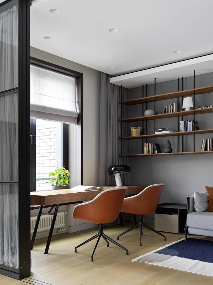 Фото №6 - «Архитектурный» интерьер московской квартиры