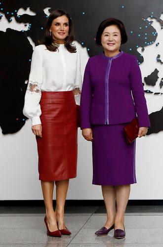 Фото №15 - Модный тандем: как Меган и Летиция вдохновляют друг друга на стильные эксперименты