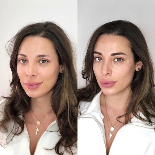 перманентный макияж бровей, фото до и после
