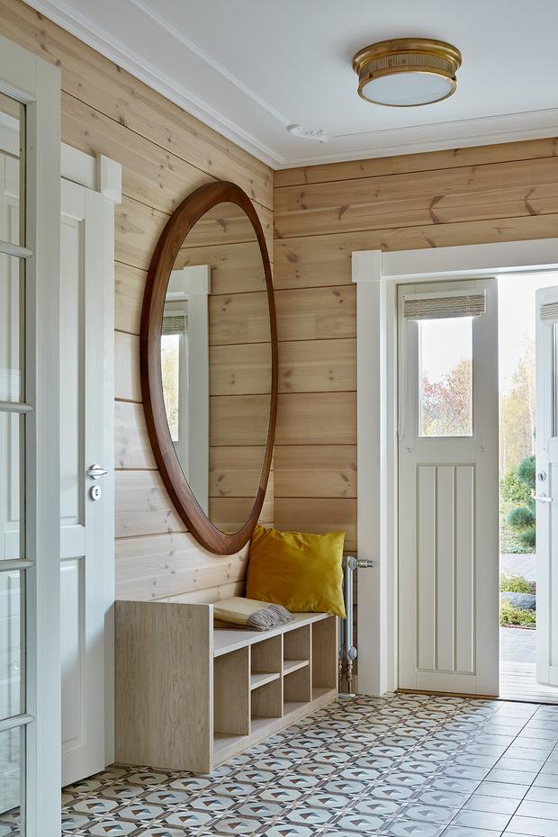 Фото №2 - Современный интерьер в деревянном доме в Подмосковье
