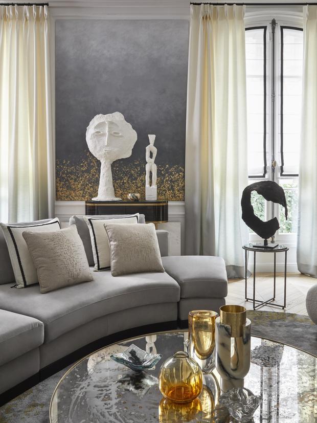 Фото №2 - Квартира с элементами нового ар-деко в Париже