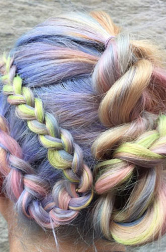 Фото №9 - Бьюти-тренд: разноцветные волосы