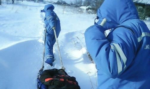 Фото №1 - Пенсионер с инфарктом, которого медики «Скорой» тащили по снегу на носилках, умер в больнице