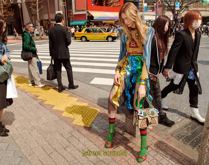 Фото №3 - Японское приключение Петры Коллинс и Ко: новая кампания Gucci