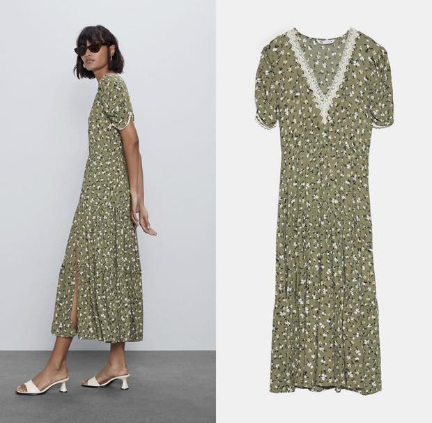 Фото №3 - Горчичный по счастливому случаю: новый выход Кейт Миддлтон в платье Zara