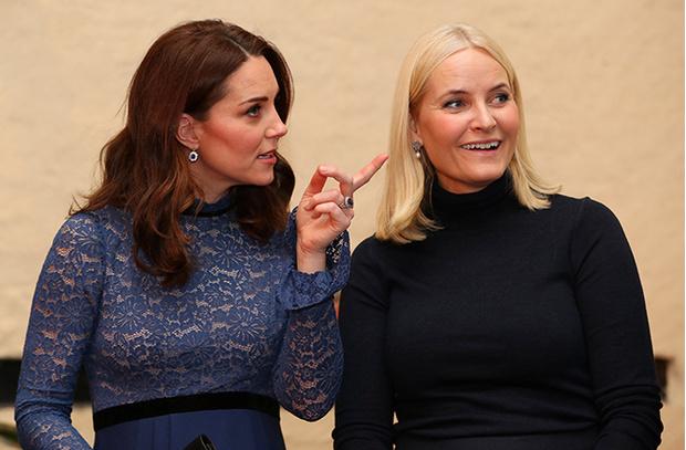 Фото №18 - Кейт Миддлтон и принц Уильям в Норвегии: день первый