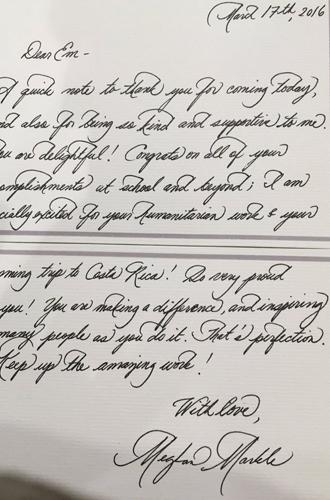 Фото №8 - О чем говорит почерк герцогини Меган (и чем это грозит принцу Гарри)