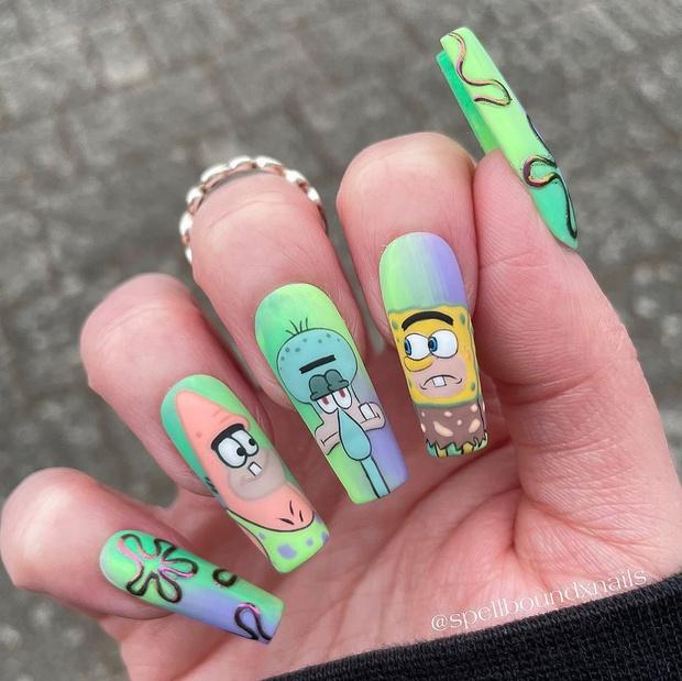 Фото №10 - Позалипать и вдохновиться: 45 крутых идей маникюра для длинных ногтей 💅