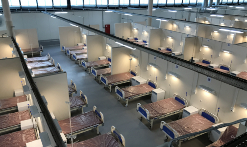 Фото №1 - Реанимация, томограф, урны и шкафчики. Госпиталь в Ленэкспо готовится принять до 2500 пациентов с ковидом