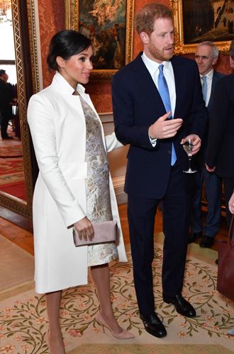 Фото №4 - Герцоги Кембриджские и Сассекские на приеме в Букингемском дворце