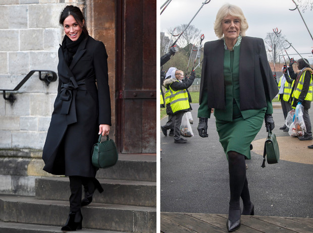 Фото №1 - Герцогиня Камилла купила себе сумку, как у Меган Маркл