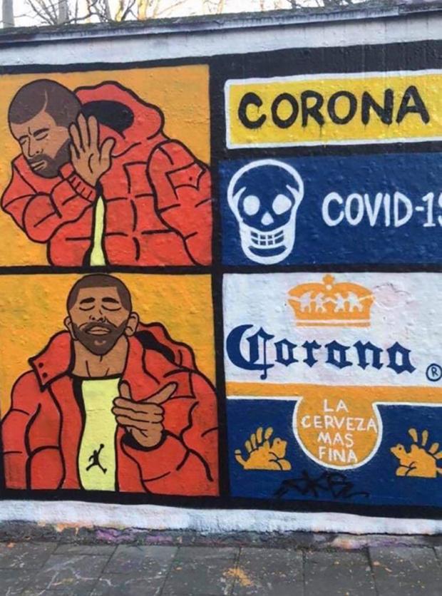 Фото №15 - 20 граффити со всего мира, навеянные коронавирусом