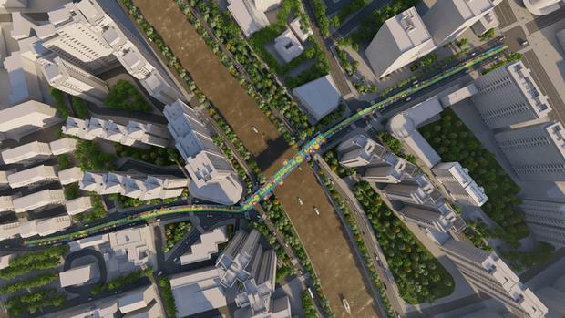 Фото №2 - Проект пешеходного моста в Шанхае