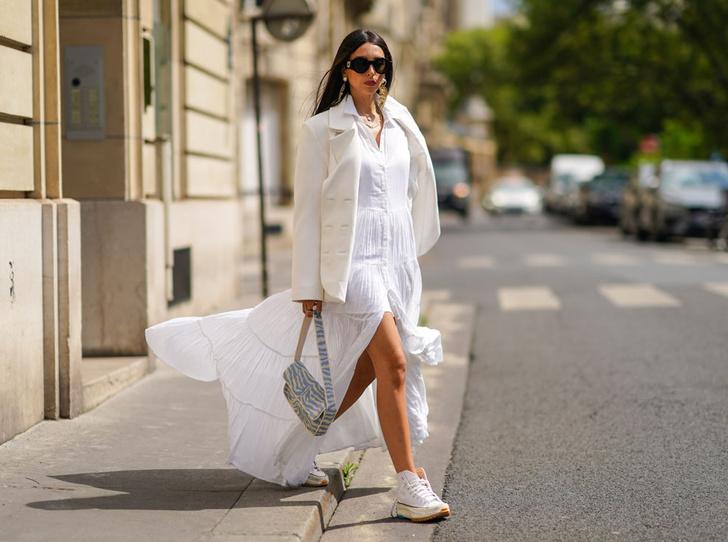 Фото №8 - Как носить белый цвет летом: 4 стильных приема