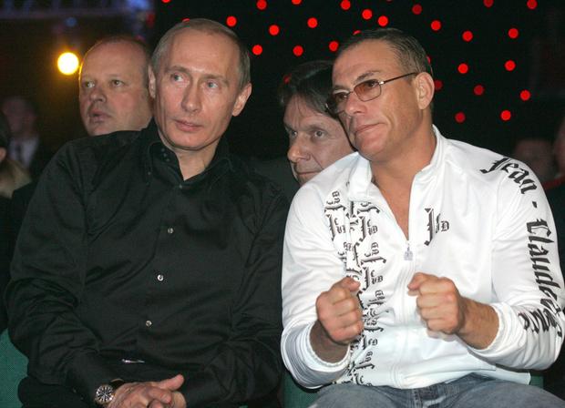Владимир Путин и Жан-Клод Ван Дамм, 2007 год.