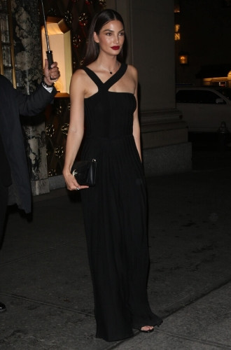 Лили Олдридж в Нью-Йорке