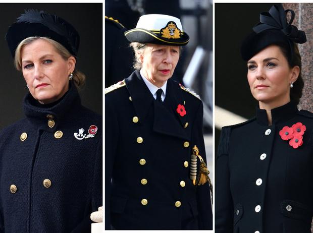 Фото №1 - Почему принцесса Анна не появилась на балконе в день памяти (а Кейт, Камилла и Софи— да)