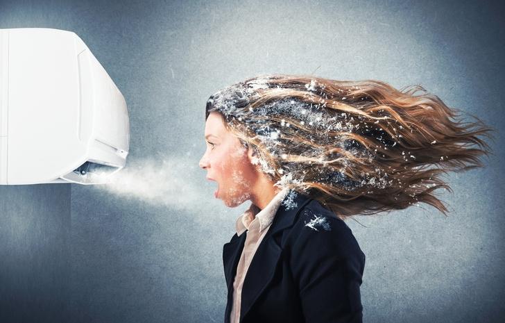 Фото №1 - Ученые выяснили, почему женщины мерзнут и болеют из-за офисных кондиционеров