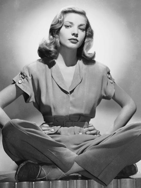 Актриса Лорен Бэколл, 1945 год.